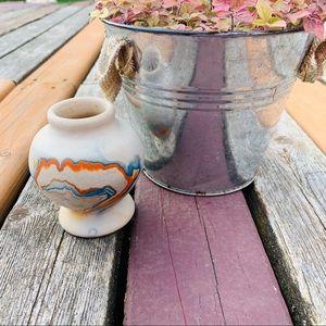 Nemadji Vintage Native American pottery small vase